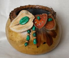 Malachite Gourd Basket