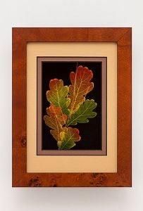 White Oak Leaf Shadowbox Framed Art