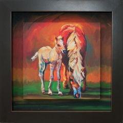 Horses Shadow Box Wall Canvas