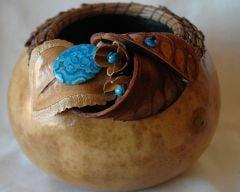 Blue Lace Agate Gourd Basket