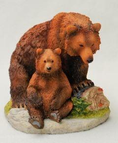 Brown Bear & Cub Veronese® Sculpture