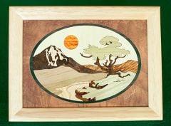 Mountain Tree Wood Box (6