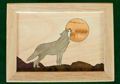 Wolf Wood Box (4