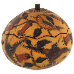 Hummingbirds Gourd Box