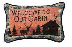 Welcome to Our Cabin Pillow