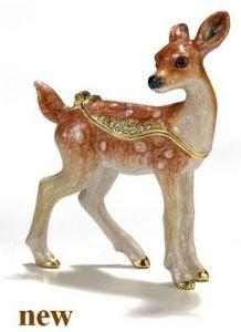 Fawn Bejeweled Trinket Box