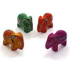 Kenyan Soapstone Elephant Figurine