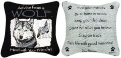 Advice From a Wolf™ Pillow