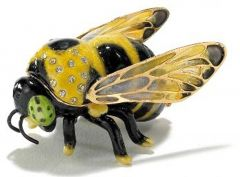 Bumblebee Bejeweled Enamel Trinket Box
