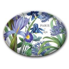 Hyacinth Iris Glass Soap Dish
