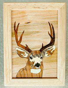 Deer Buck Wood Box (4