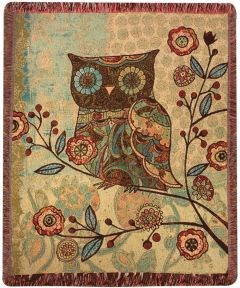 Owl Tapestry Throw