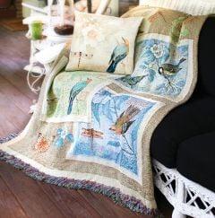 Birds, Butterflies, & Dragonflies Tapestry Throw
