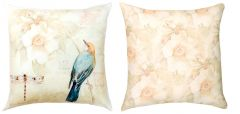 Birds, Butterflies, & Dragonflies Reversible Pillow (Yellow-Green)