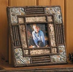 Stone Accented Picture Frame