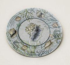 Seashell Melamine Plate