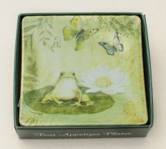 Pond Serenity Appetizer Plates (Boxed Set of Four)