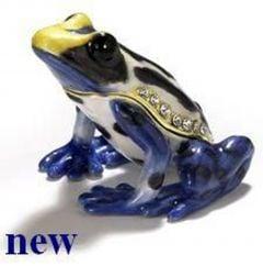 Poison Dart Frog Bejeweled Enamel Trinket Box