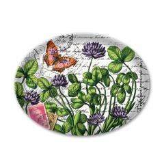 Green Meadow Glass Soap Dish