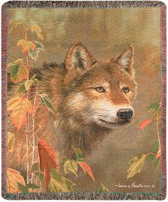 Autumn Wolf Throw