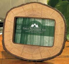 Log Cut Picture Frame