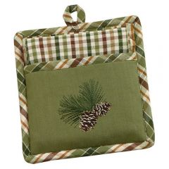 Pinecone Potholder & Towel Set
