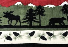 Bear & Moose Fleece Throw