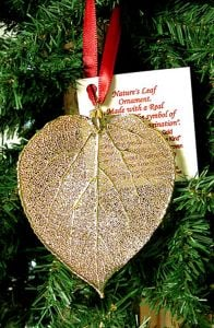 Aspen Leaf Gold Ornament