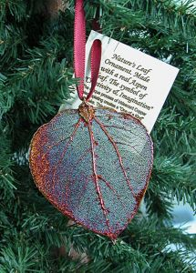 Aspen Leaf Copper Ornament