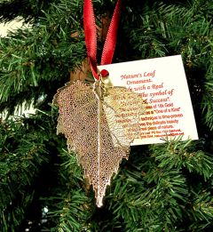 Birch Leaf Gold Ornament