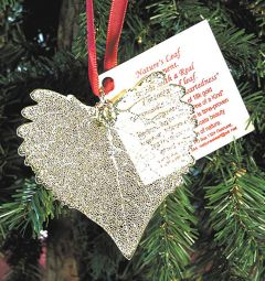 Cottonwood Leaf Gold Ornament