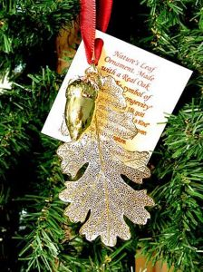 Oak Leaf & Acorn Gold Ornament