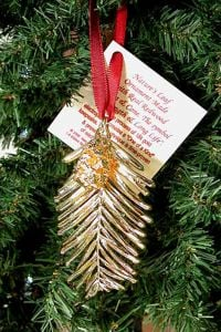 Redwood Needles & Cone Gold Ornament