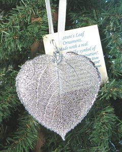 Aspen Leaf Silver Ornament