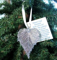 Birch Leaf Silver Ornament