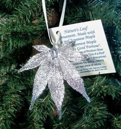 Japanese Maple Leaf Silver Ornament