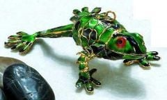 Frog Enamel Ornament