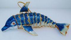 Dolphin Enamel Ornament