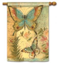 Pastel Butterfly Large Standard Flag