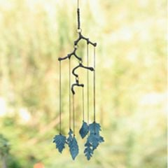 Brass Leaves Windchime