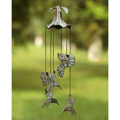 Hummingbird & Morning Glory Windchime