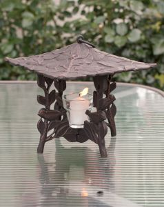 Chickadee Twilight Lantern (Oil Rub Bronze)
