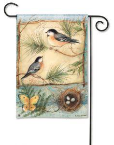 Pastel Chickadee Small Garden Flag