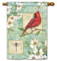 Pastel Cardinal Large Standard Flag