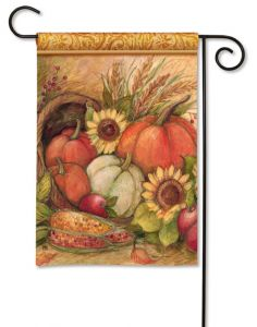 Pumpkin Harvest Small Garden Flag