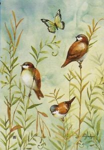 Sparrows Small Garden Flag