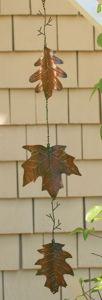 Copper Leaves Garden Spinner