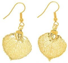 Aspen Leaf Gold Earrings