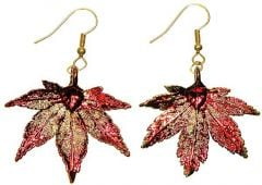 Japanese Maple Leaf Copper Earrings