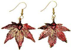 Japanese Maple Leaf Copper Earrings